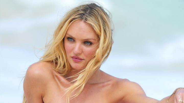 Candice Swanepoel Looking Side Sad Face Photoshoot